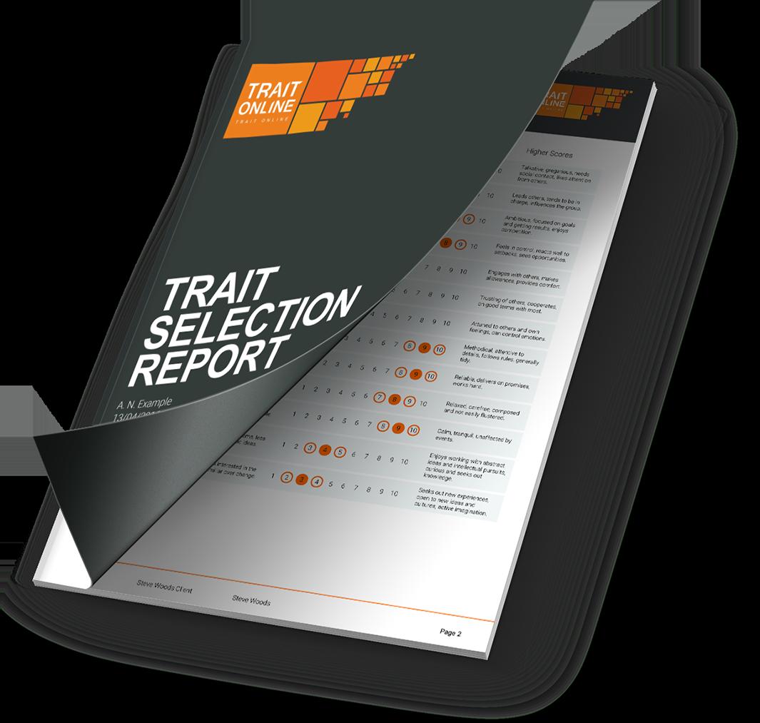 Trait selection report